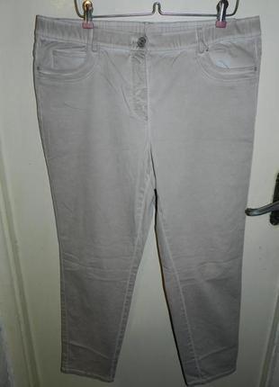 Зауженные,супер-стрейч,брюки-джинсы-варёнки на резинке,большого размера,samoon