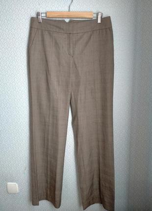 Широкие брюки палаццо в мелкую клетку высокая талия посадка