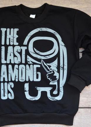 "✅суперский джемпер со светящимся рисунком ""last among us"" последний амонг ас"" 128-140 рост"