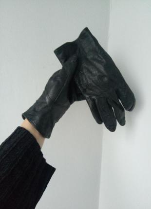 Шкіряні рукавиці,перчатки кожание,чорні рукавички