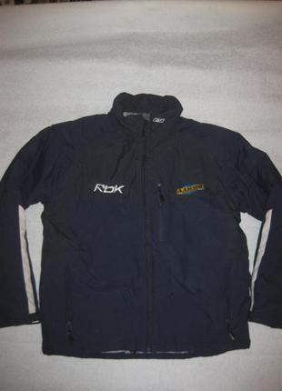 160 рост, зимняя куртка reebok темно-синяя, оригинал!