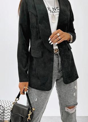 Женский пиджак микро вельвет