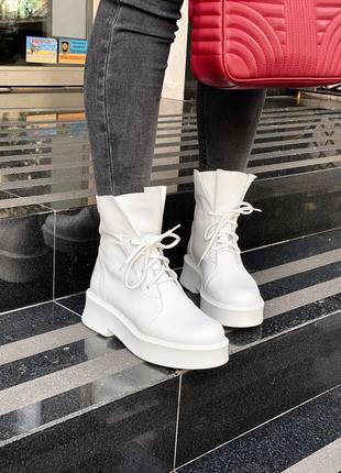 Кожаные женские ботинки в177-02