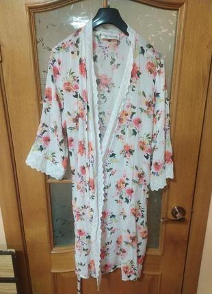 Очень нежный халат от magnolia lingerie,p. xl