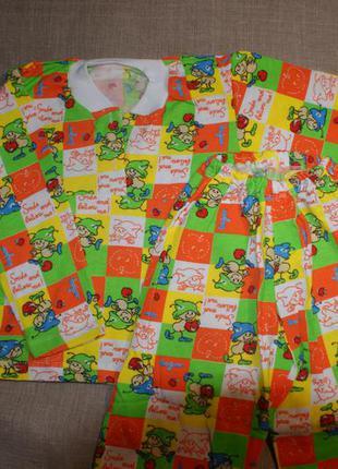 Новая 4-5 лет пижама байка рост 100-107 и 32(64) р  теплая  байковая 100% хлопок