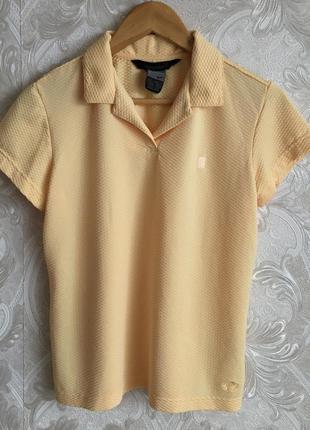 Желтая винтажная футболка майка тенниска поло nike оригинал