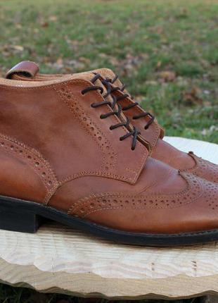 Кожаные ботинки samuel windsor броги, размер 39