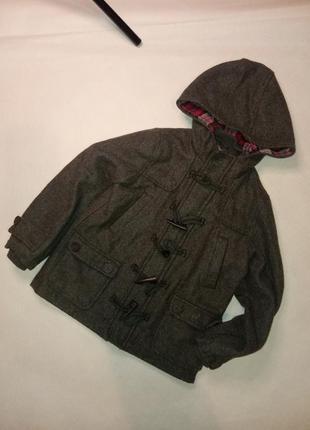 Серое пальто для мальчиков