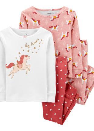 3т,4т,5т. котоновые пижамы carters пони,пижама картерс.в наличии!