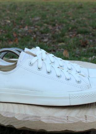 Белые кожаные кеды converse оригинал, размер 41