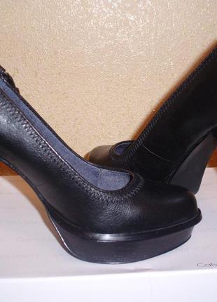 Кожаные туфли calvin klien jeans