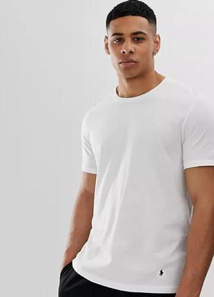 Белая футболка polo ralph lauren муж. мка
