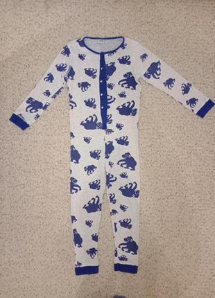 Слитник пижама комбинезон на мальчика 6-8 лет