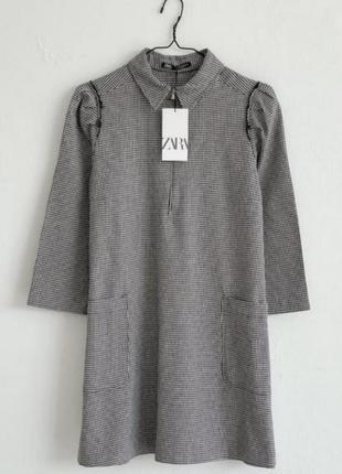 ❗только сегодня ❗шикарное платье в гусиную лапку zara