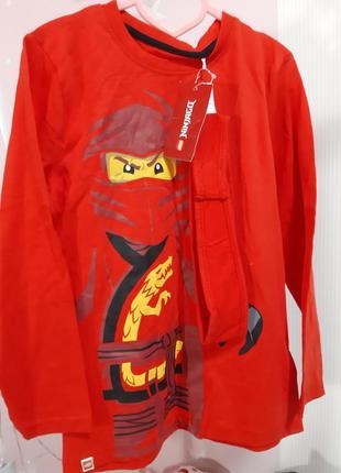 Реглан lego wear ninjago для мальчика красный нинзяго комплект