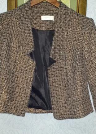Жакет болеро пиджак selected femme  с медным золотым отблеском