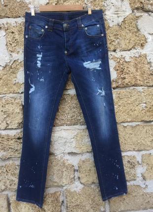 Итальянские мужские джинсы люкс бренда philipp plein