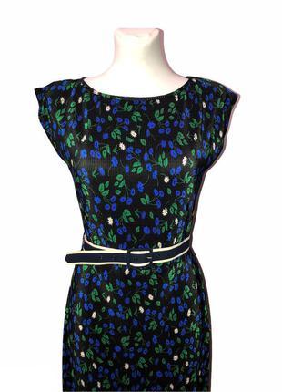 Длинное платье в цветочный принт dorothy perkins