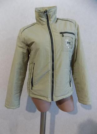 Куртка на холлофайбере бежевая фирменная размер 46-48