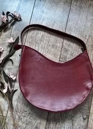 Брендовая,эксклюзивная кожаная сумка от francesco biasia-италия бордо