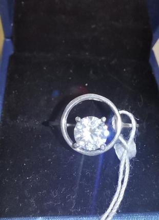 Кольцо, серебро, 925, цирконий