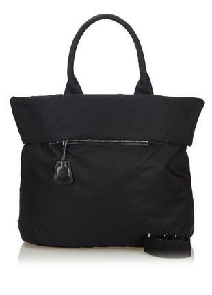 Двухсторонняя сумка шоппер prada (nappa+nylon) первая линия, оригинал!