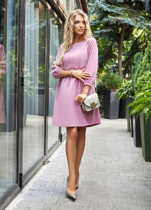 Платье микровельвет🔥много цветов🔥миди пудровое розовое тёплое с длинным рукавом новое качественное осеннее