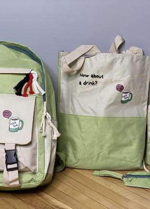 Рюкзак + шопер + сумка через плече + пенал