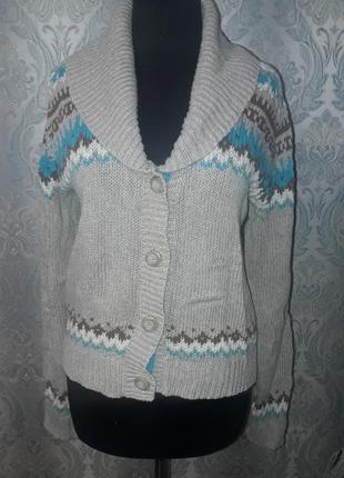 Теплая кофта (свитер,кардиган)zara knit рр l