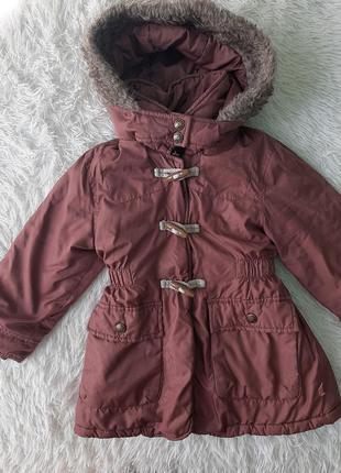 Демисезонная куртка парка на девочку с капюшоном