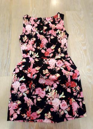 Нарядное платье в розах от asos