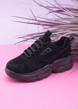 Женские чёрные кроссовки/размеры 36-41