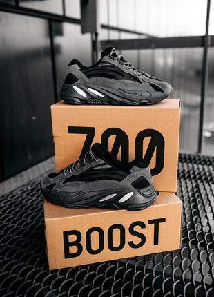 Кроссовки женские adidas yeezy boost 700  v2 black адидас