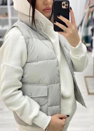 Женская жилетка, безрукавка от 42-48рр,серая