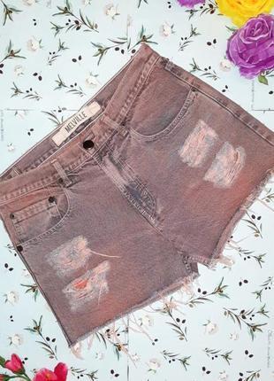 🎁1+1=3 фирменные джинсовые шорты мом mom melville джинс, размер 46 , италия
