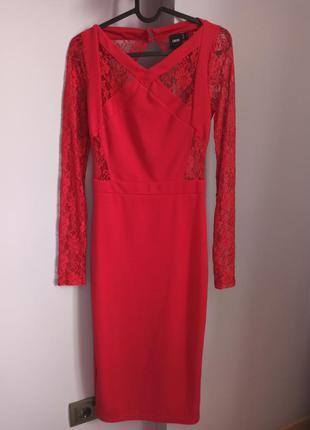 Платье asos красное нарядное 36 размер