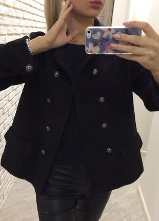 Крутое кашемировое пальто бушлат! италия !