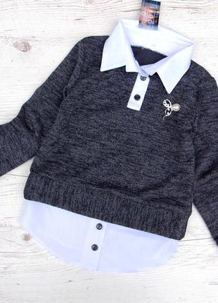 Р.122-140 распродажа! детская школьная блузка