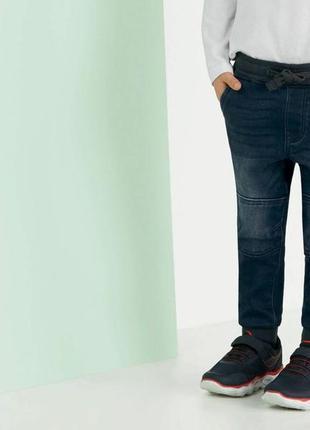 Осенние джинсовые джогеры lupilu