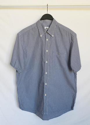Рубашка в полоску с коротким рукавом lacoste оригинал