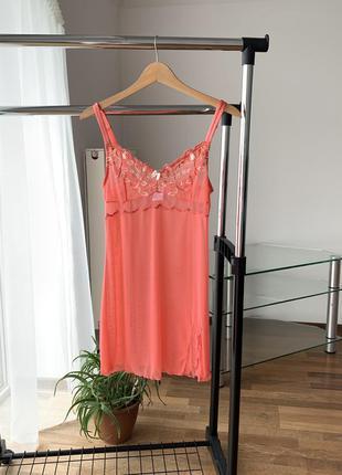 Пеньюар домашние платье ночнушка сетка вышивка