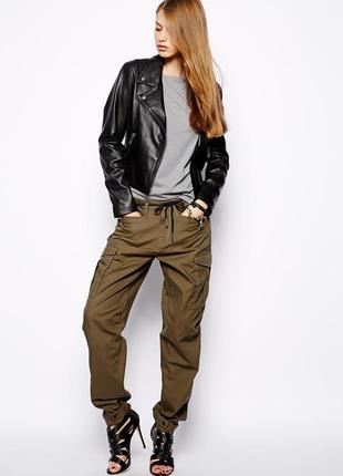 Плотные котоновые джинсы брюки zara