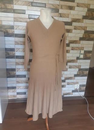 Шерсть кашемир платье миди c&a