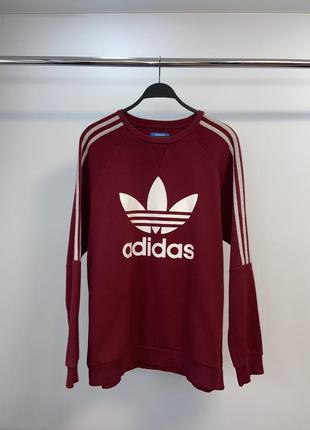 Adidas чоловічий бурдовий насичений світшот
