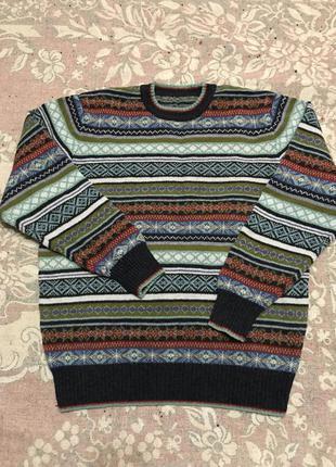 Новый шерстяной модный джемпер на подростка р 160/170 шерсть мериноса