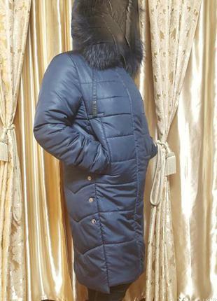 Балоневое пальто с натуральным мехом