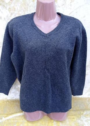 Джемпер (кофта, свитер) на осень/зиму в овечьей шерсти