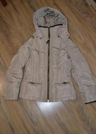 Zara куртка пуховик 36р s . пух, перо. зимняя. оригинал