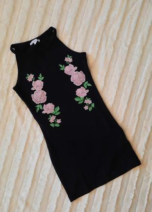 Черный сарафан платье с вышивкой