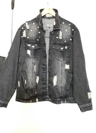 Стильный джинсовый пиджак / куртка италия